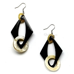 Q10009 HORN NATURAL COLOR EARRING