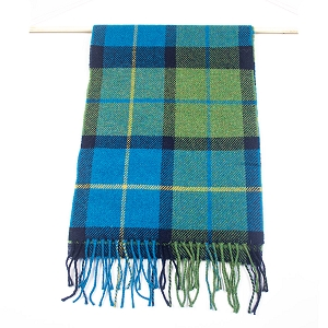 Irish Lambs Wool Scarf- Green Check