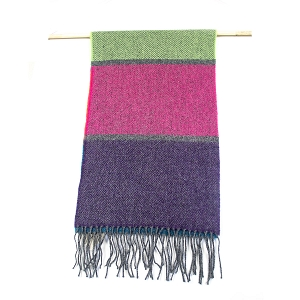 Irish Lambs Wool Scarf- Colorful Stripe