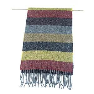 Irish Lambs Wool Scarf- FALL Stripe
