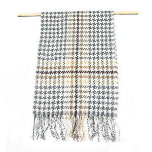 Irish Lambs Wool Scarf- houndstooth