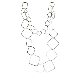 SLVR1842 GARLAND OF SHAPES  NECKLACE
