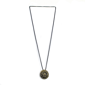 BNZ43-102 BRONZE BALL NECKLACE