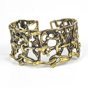 BNZ2036 BRONZE COLLAGE CUFF
