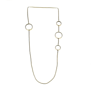 BNZ6003 BRONZE CIRCLES NECKLACE