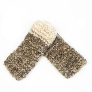 Hand Knit 2 Color Hand Warmers