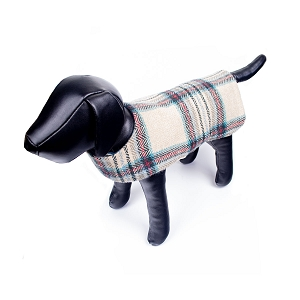 Irish Lambs Wool Dog Coat- Classic Stone