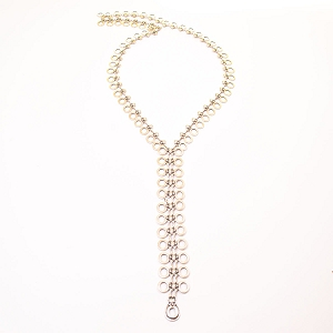 SLVR1749 LONG Y NECKLACE