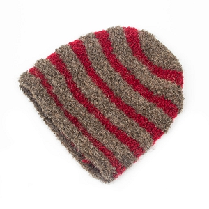 Hand Knit Striped Hat