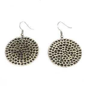 TE-4542 SILVER PEBBLES EARRINGS