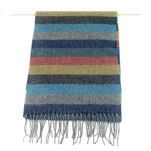 Irish Lambs Wool Scarf- Winter Stripe