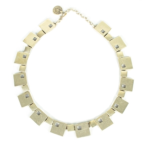 TN1532 MARCH OF SQUARES NECKLACE