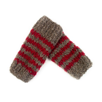 Hand Knit Striped Hand Warmers