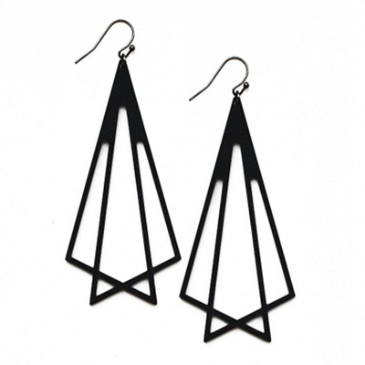 ME04 INTRICATE TRIANGLES EARRING
