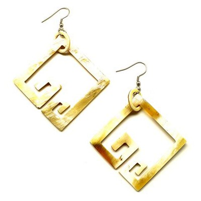 Q12209 OPEN BOXES HORN EARRING