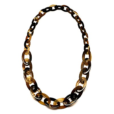 Q5319 WATER BUFFALO HORN CHAIN NECKLACE
