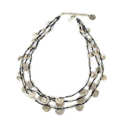 SLVR1032 SMALL CIRCLES NECKLACE