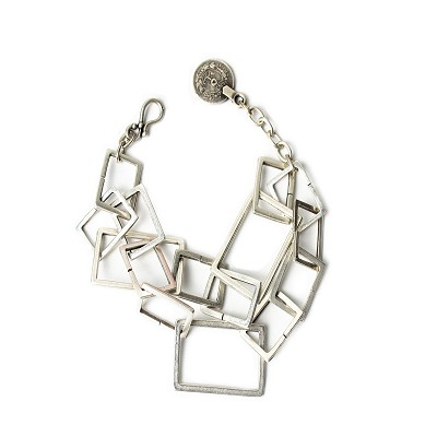 TB2617 CHAIN OF SMALL  BOXES   BRACELET